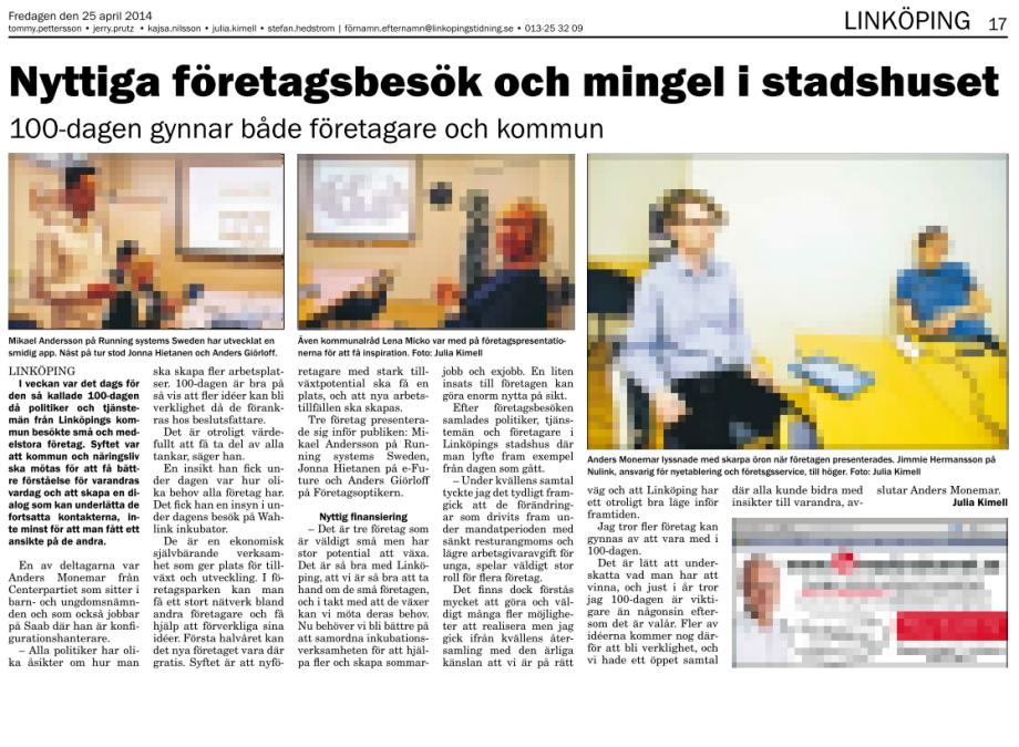 Intervju med Anders Monemar Nulink 100-dagen